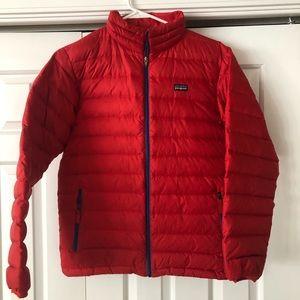 Boys Red Patagonia lightweight puffer jacket